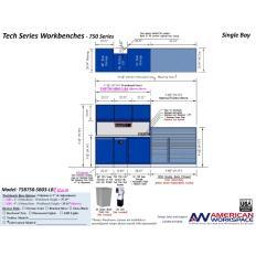 LISTA TSB750-SB03-LB2 - www.AmericanWorkspace.com/329-single-bay-tech-benches