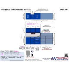 LISTA TSB750-SB04-LB2 - www.AmericanWorkspace.com/329-single-bay-tech-benches