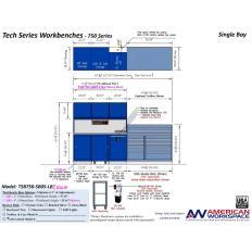 LISTA TSB750-SB05-LB2 - www.AmericanWorkspace.com/329-single-bay-tech-benches