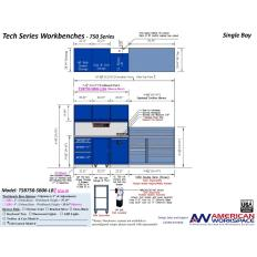 LISTA TSB750-SB06-LB2 - www.AmericanWorkspace.com/329-single-bay-tech-benches
