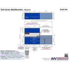 LISTA TSB750-SB10-LB2 - www.AmericanWorkspace.com/329-single-bay-tech-benches