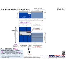 LISTA TSB750-SB11-LB2 - www.AmericanWorkspace.com/329-single-bay-tech-benches