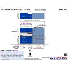 LISTA TSB750-SB12-LB2 - www.AmericanWorkspace.com/329-single-bay-tech-benches