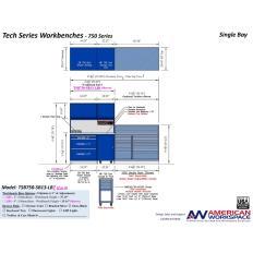 LISTA TSB750-SB13-LB2 - www.AmericanWorkspace.com/329-single-bay-tech-benches