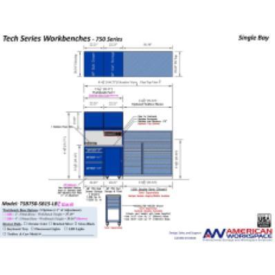 LISTA TSB750-SB15-LB2 - www.AmericanWorkspace.com/329-single-bay-tech-benches