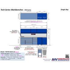 LISTA TSB750-SB16-LB2 - www.AmericanWorkspace.com/329-single-bay-tech-benches