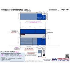 LISTA TSB750-SB17-LB2 - www.AmericanWorkspace.com/329-single-bay-tech-benches