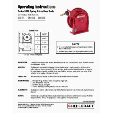 Reelcraft Hose Reel Manuals