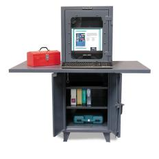 26x24x66 Workspace Computer Cabinet,Work Area