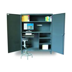 60x24x72 Computer Workstation Cabinet,Storage