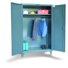 48x24x60 Wardrobe Cabinet,Full Width Rod and Shelf