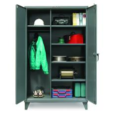 48x24x72 Wardrobe Cabinet with Shelves