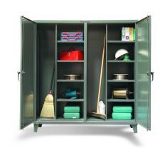 74x24x72 Double Shift Wardrobe/Broom,Shelf Closet