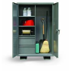 36x24x60 Janitorial Job Storage,Drawers and Shelfs