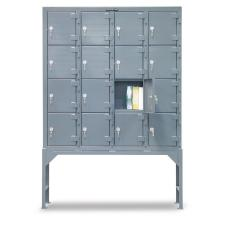 58x12x84.25 - 16 Compartments,Key Lock,Raised Legs