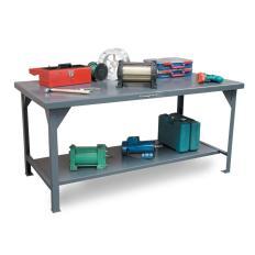 30x24x34 Standard Shop Table,7-Gauge Work Top,Shelf Below