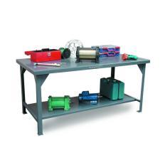 48x30x34Standard Shop Table,7-Gauge Work Top,Shelf Below