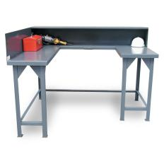 72x9x38 Wrap Around Shop Table with Riser