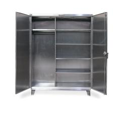 48x24x72 Wardrobe Cabinet,4 Shelves,Hanger Area