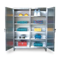 36x24x72 Stainless Cabinet with Shelves and Doors
