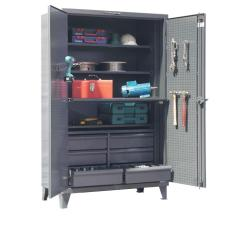 48x24x72 Work Station Tool Cabinet with shelves and drawers