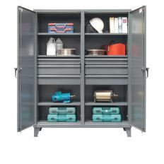60x24x72 Double Shift Cabinet,6 drawers,2 Locking Doors