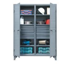 60x24x72 Double Shift Cabinet,8 drawers,2 Locking Doors