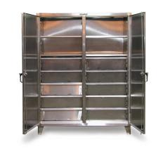 60x24x72 Double Shift Cabinet,6 Drawers,6 Shelves