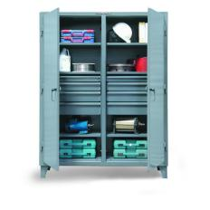72x24x72 Double Shift Cabinet,8 drawers,2 Locking Doors