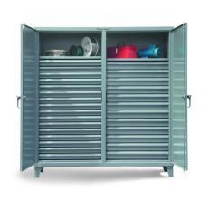 72x24x72 Double Shift Cabinet,28 drawers,2 Locking Doors