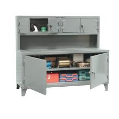 72x30x34 Workbench with Overhead Cabinets