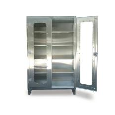 60x24x72 Stainless Clearview Shelf Cabinet