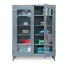 48x24x72 Scratch Resistant See-Thru with 4 Shelves