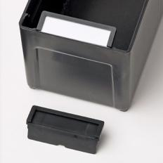 Parts Box Label Holder,Anti-Static,Black