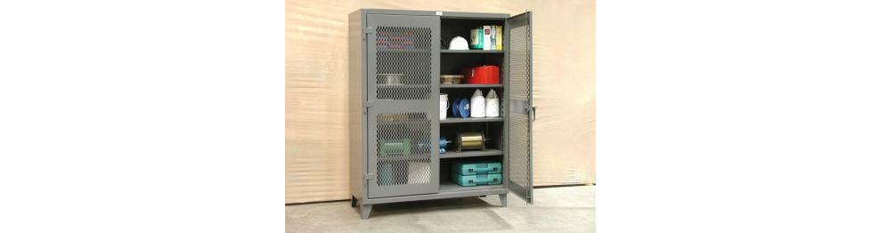 Stronghold Ventilated Steel Storage Cabinets, Heavy Duty Cabinet,Heavy Duty  Storage Cabinet,Locking Cabinet,American Made   American Workspace Inc.